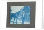 cyanotypieën children, horses, houses, boats and beach scenes in the United States, USA by Anonymous
