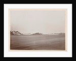 Sight over a lake or sea, with snowy mountains in the background (Norway?) by Henry Pauw van Wieldrecht