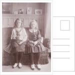 Portrait of two girls by Henry Pauw van Wieldrecht