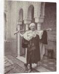 Self Portrait in Oriental costume with a rifle by Henry Pauw van Wieldrecht