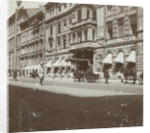 The entrance of the Hotel de France in St Petersburg with the entrance a carriage by Henry Pauw van Wieldrecht