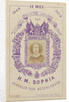 Portrait of Queen Sophie, in a lithographic border decoration by J. Van Crewel & Fils