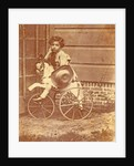 Louis Asser, son of the photographer, on a tricycle by Eduard Isaac Asser