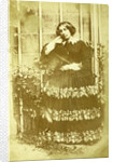 Portrait of a woman in a garden by Eduard Isaac Asser
