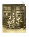Group portrait of Euphrosine Asser Oppenheim with her brothers and her sister Elisa Beer-Oppenheim in a garden by Eduard Isaac Asser