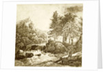 Etching with a landscape by Eduard Isaac Asser
