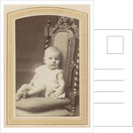 Portrait of a baby on a chair by Wegner & Mottu