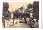 Audience at a decorated gate in Ambon, Indonesia by Anonymous