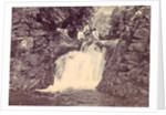 Indian men at a waterfall at Batu Gantong in Ambon by Anonymous