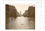 Flooded street in Paris by Anonymous
