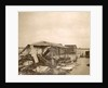 Destroyed barn on flooded land in the suburbs of Paris, 1910, France by Anonymous