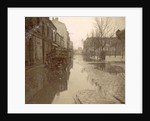 Kar in flooded street during flood Paris by France