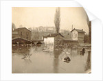 Houses on a flooded area in a suburb of Paris by France