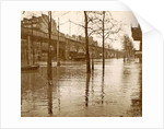 Flooded street in a flyover during the flooding of Paris, France by Anonymous