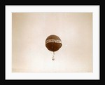 air balloon advertising for 'Tea E Brandsma floating in the air by Anonymous