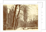 Houses in the Begijnhof in Amsterdam in the snow by Anonymous