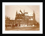 Exterior of St. Willibrord Church outside the Veste in Amsterdam in the winter by Anonymous
