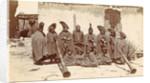 Group of Tibetan clergy (llamas) with wind instruments (dunchen), D.T. Dalton, 1903 - 1906 by D.T. Dalton