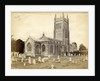 Exterior of the Church of St. Andrew with a graveyard before in Mells by Anonymous