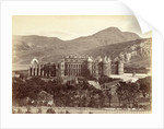 Holyrood Abbey and Holyrood Palace in Edinburgh, seen from Calton Hill Scotland UK by John Patrick