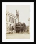 Exterior of the Basilica of the Holy Blood in Bruges and construction, Belgium by Victor Daveluy