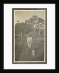 Boy with two watering cans by Anonymous