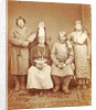 Group portrait of a Russian peasant family Russia by Anonymous