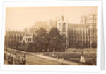 Exterior of Westminster Abbey and St. Margaret's Church in London UK by F.G.O. Stuart