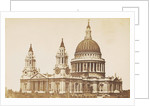Exterior of St Paul's Cathedral in London UK by F.G.O. Stuart