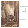 Interior of Westminster Abbey in London UK by F.G.O. Stuart