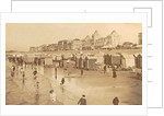 Bathers and bathing carriages on the beach of Blankenberge, Belgium by Anonymous