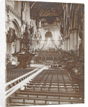 Interior of the Nieuwe Kerk, Amsterdam, The Netherlands, as it was at the inauguration of Queen Wilhelmina by Samuel Herz