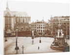 Decorations on Dam Square, Amsterdam, The Netherlands, during the inauguration of Queen Wilhelmina by Samuel Herz