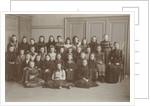 Class photo of the sixth grade of school girl Elisabeth Wolff by P.D. van Rhijn