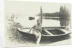 Girl in boat by M. Coulon
