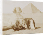 E.M. Wissman and H. A. ROMs Shop for great pyramid and Sphinx at Giza, 30 Dec 1900 by Anonymous