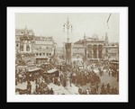 Decorations on Dam Square, Amsterdam, during the inauguration of Queen Wilhelmina by Anonymous