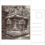 Corner Temple at the northern staircase of the Shiva temple of Prambanan temple complex Indonesia by Kassian Cephas
