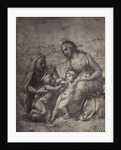 Drawing Raphael from Windsor Castle, Mary with Jesus, Elizabeth with John in landscape by Charles Thurston Thompson
