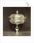 Crystal engraved bowl on foot by Charles Thurston Thompson