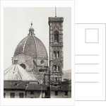 dome and campanile of the Duomo in Florence Italy, c. 1855 by Anonymous