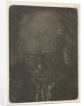 Head of an old man with glasses by Anthonie van den Bos
