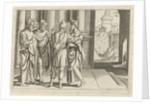 brings Paul to the apostles Barnabas by Cornelis Bos