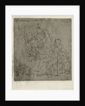 Three men around a table by Jabes Heenck