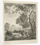Landscape with Shepherd and cattle by Johannes Janson
