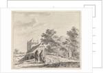 Landscape with stone bridge by Johannes Christiaan Janson