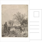 Landscape with Skaters by Johannes Christiaan Janson