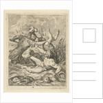 Achilles fights with river god Scamander, J. Alexander Janssens by Victor Honoré Janssens