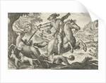 Deer Hunting, Egbert Jansz., Antonio Tempesta by Johann Theodor and Johann Israel de Bry