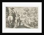 Landscape with wild boar hunting, Egbert Jansz., Antonio Tempesta by Johann Theodor and Johann Israel de Bry